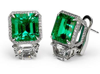Tiffany Emerald Earings